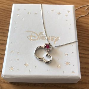 Disney Mickey sterling silver necklace